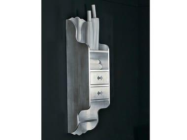 Classic style silver leaf bathroom wall cabinet with drawers BELLAGIO | Bathroom wall cabinet