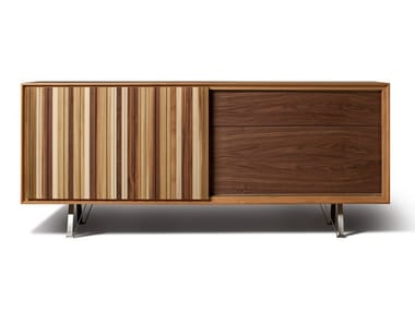 Cherry wood sideboard with sliding doors SIPARIO | Sideboard with sliding doors