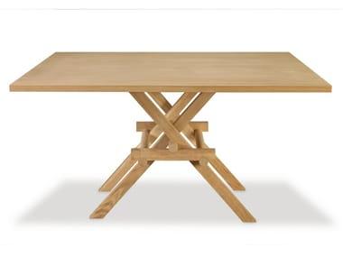 Square ash table LEONARDO