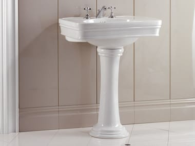 Pedestal ceramic washbasin ROSE | Washbasin