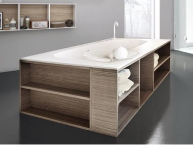 Vasca Da Bagno Rettangolare Grande : Vasca da bagno centro stanza kasia cm l