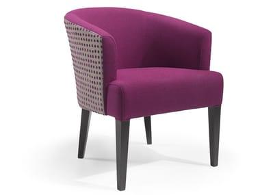 Cadeira lounge de tecido com braços LUA