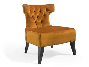 Cadeira lounge capitonê de tecido ROY