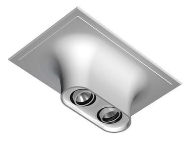 Multiple ceiling aluminium spotlight USO BOOB 600 2L