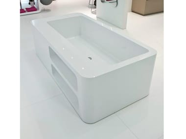 Freestanding Rectangular Bathtub UNOPUNTOZERO | Freestanding Bathtub