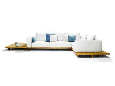 Modular garden sofa with water-repellent cushions VIS À VIS SOFA | Garden sofa