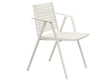 Polypropylene garden chair with armrests BRANCH | Chair with armrests