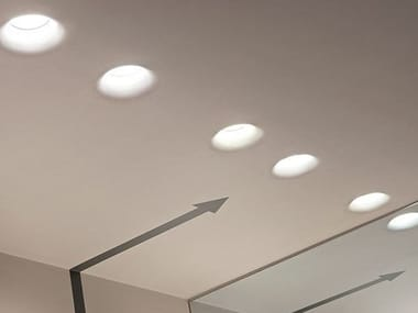 Indirect light recessed plaster ceiling lamp USO KAP