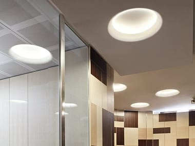 Indirect light fluorescent recessed ceiling lamp USO 900 COVE LIGHTING