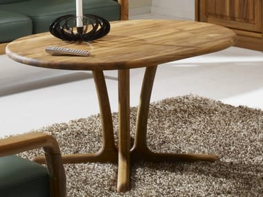 Oval wooden coffee table 9257 | Coffee table