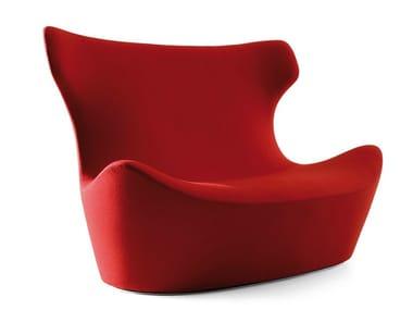 High-back fabric sofa LOVE PAPILIO