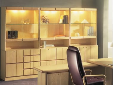 Wooden office storage unit / office shelving COMMODORE | Office storage unit