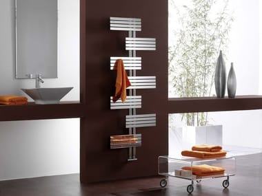 Hot-water wall-mounted decorative radiator BABYLA | Glossy steel radiator
