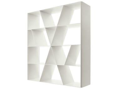 Open double-sided Corian® bookcase SHELF X
