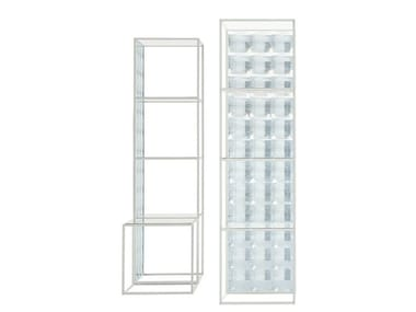 Glass bathroom cabinet / bookcase LENS | Bookcase