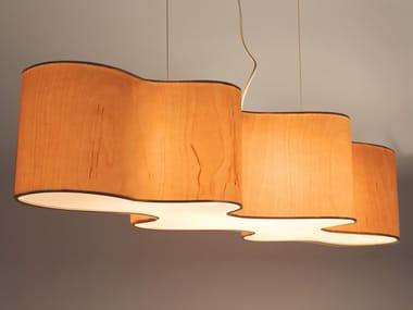 Wood veneer pendant lamp CLOUD MESA