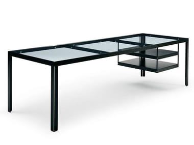 Rectangular glass executive desk PROGETTO 1 | Office desk