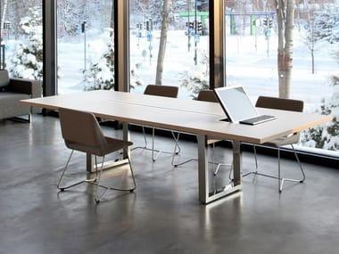 Tavolo da riunione modulare rettangolare IN-TENSIVE | Tavolo da riunione rettangolare