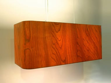 Led wood veneer pendant lamp lotus by lampa wood veneer pendant lamp mesa verde mozeypictures Choice Image