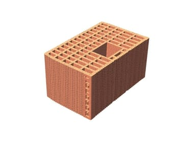 Loadbearing clay block for reinforced masonry Block for reinforced masonry
