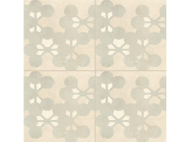 Glazed stoneware wall/floor tiles AZULEJ BIANCO FLORES