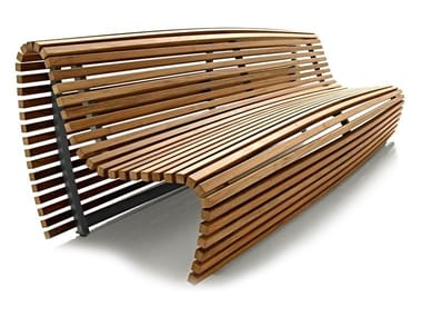 Teak Bench with back TITIKAKA