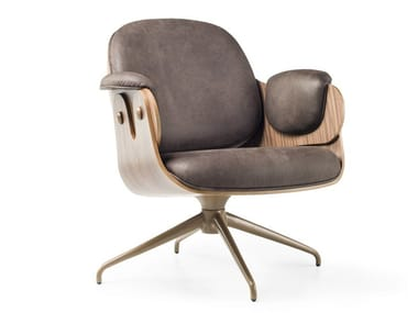 Cadeira lounge giratório de 4 raios LOW LOUNGER | Cadeira lounge giratório