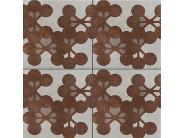 Pavimento/rivestimento in gres porcellanato smaltato AZULEJ GRIGIO FLORES