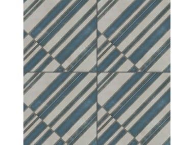 Pavimento/rivestimento in gres porcellanato smaltato AZULEJ GRIGIO DIAGONAL