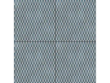 Pavimento/rivestimento in gres porcellanato smaltato AZULEJ GRIGIO TRAMA