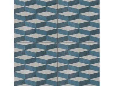 Glazed stoneware wall/floor tiles AZULEJ GRIGIO CUBE