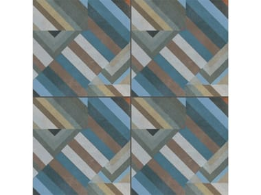 Pavimento/rivestimento in gres porcellanato smaltato AZULEJ GRIGIO PRATA
