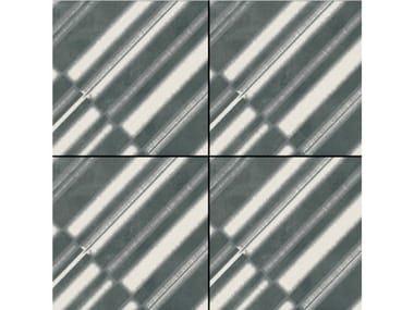 Pavimento/rivestimento in gres porcellanato smaltato AZULEJ NERO DIAGONAL