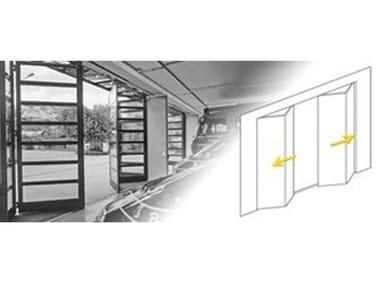 Drive mechanism for sliding doors Drive mechanisms for folding door leaves