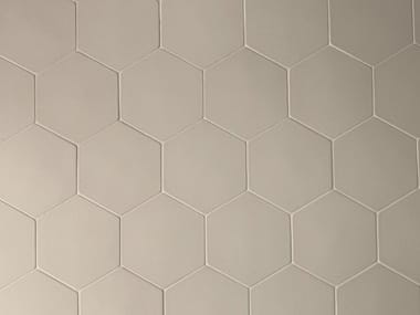 Porcelain stoneware wall tiles PHENOMENON HEXAGON GRIGIO