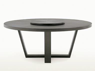 Tavolo rotondo in legno con Lazy Susan XILOS | Tavolo rotondo