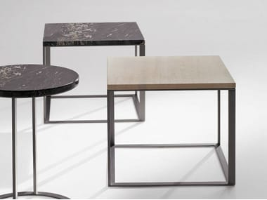 Square marble coffee table LITHOS | Square coffee table
