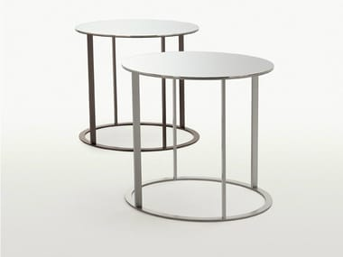 Round mirrored glass coffee table ELIOS | Round coffee table