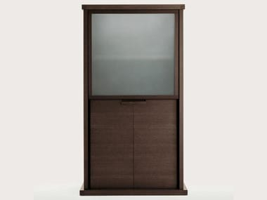Wood and glass display cabinet INCIPIT | Display cabinet