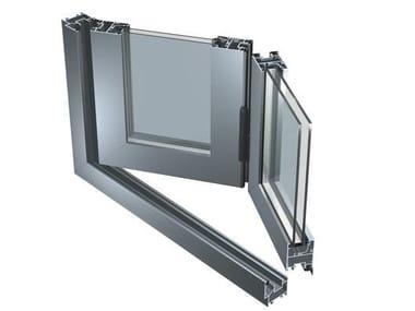 Porta-finestra a libro in alluminio 45 V