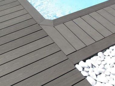 Engineered wood decking EMBOSSED ELEGANCE DECK BOARD
