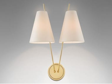 Wall lamp with fixed arm ZWEIG | Brass wall lamp