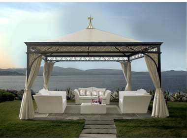 Iron gazebo MALATESTA GOLD