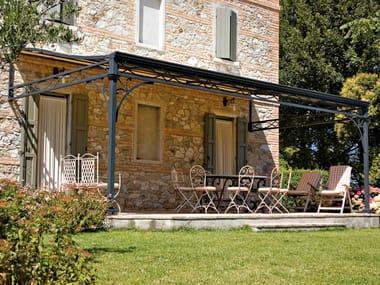 Anbau Terrassenüberdachung aus Eisen MALATESTA | Terrassenüberdachung
