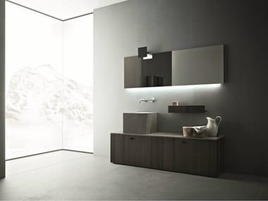 Wooden bathroom furniture set CRAFT - COMPOSITION N01