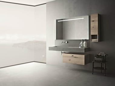 Cement bathroom furniture set CRAFT - COMPOSITION N02