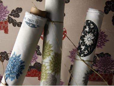 Tessuto stampato in cotone con motivi floreali NOBU