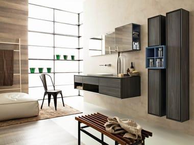 Bathroom furniture set LIBERA 3D - COMPOSITION L02