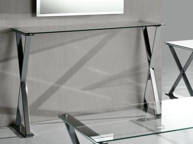Consolle in acciaio e cristallo | Archiproducts