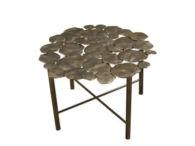 low round metal coffee table nymphea round